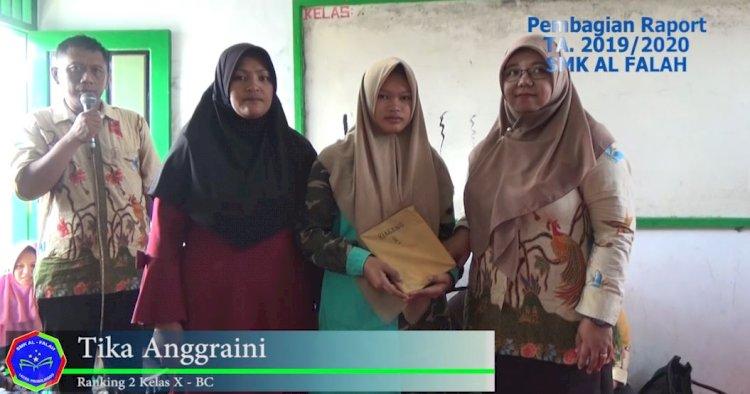 Penerimaan Raport Semester ganjil TA. 2019/2020 bagi siswa SMK Al Falah